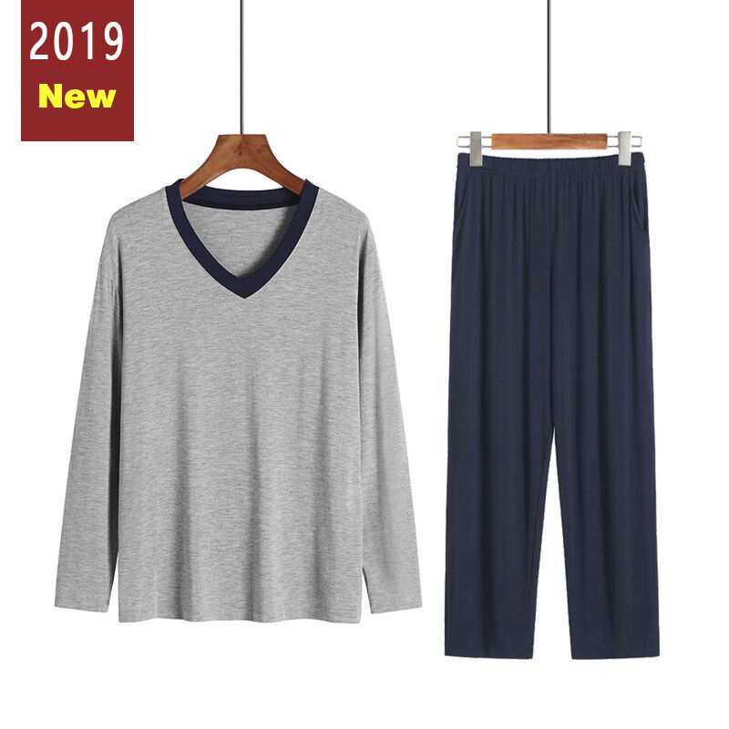Autumn Winter Pyjamas Men Pijamas Hombre Loose Long Sleeve Casual Sleepwear Male Pants Suit Pajamas Sets Plus Size 3XL 4XL