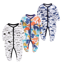 3 pieces Newborn Rompers Long sleeve Baby Girl Boy Clothes Comfortable baby Pajamas Infant Jumpsuit boy Romper Girl Clothing set 3 pieces baby girl boy clothes newborn rompers long sleeve comfortable pajamas infant jumpsuit boy romper girls clothing set