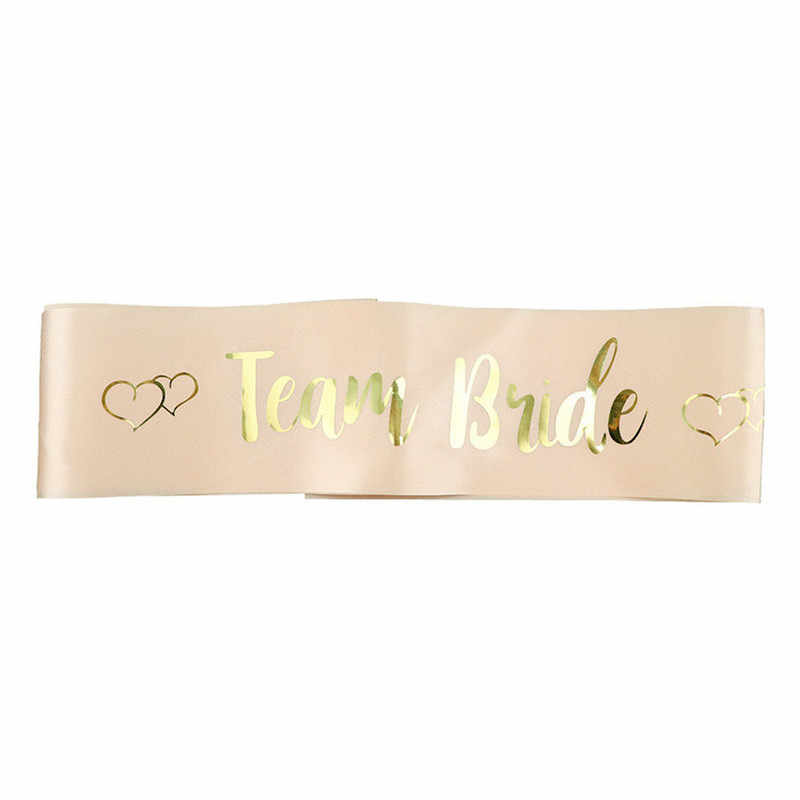 Rose Gold ทีม Bride TO BE SASH Bachelorette PARTY แต่งงานเจ้าสาวไหล่แต่งงานเจ้าสาว PARTY Supplies