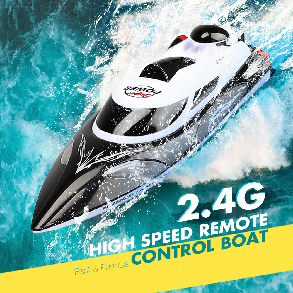 HJ806 RC Boat 35km/H High Speed Fast Ship With Cooling Water System Boat Night Light Double Layer Waterproof RC Boats Toys Gifts