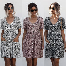 Новые летние модные 2020 платье с короткими рукавами для женщин