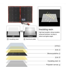 Image 2 - Dokio 100w(50Wx2pcs) Flexible Foldble Mono Solar Panel For Travel & Boat & RV High Quality Portable Solar Panel China