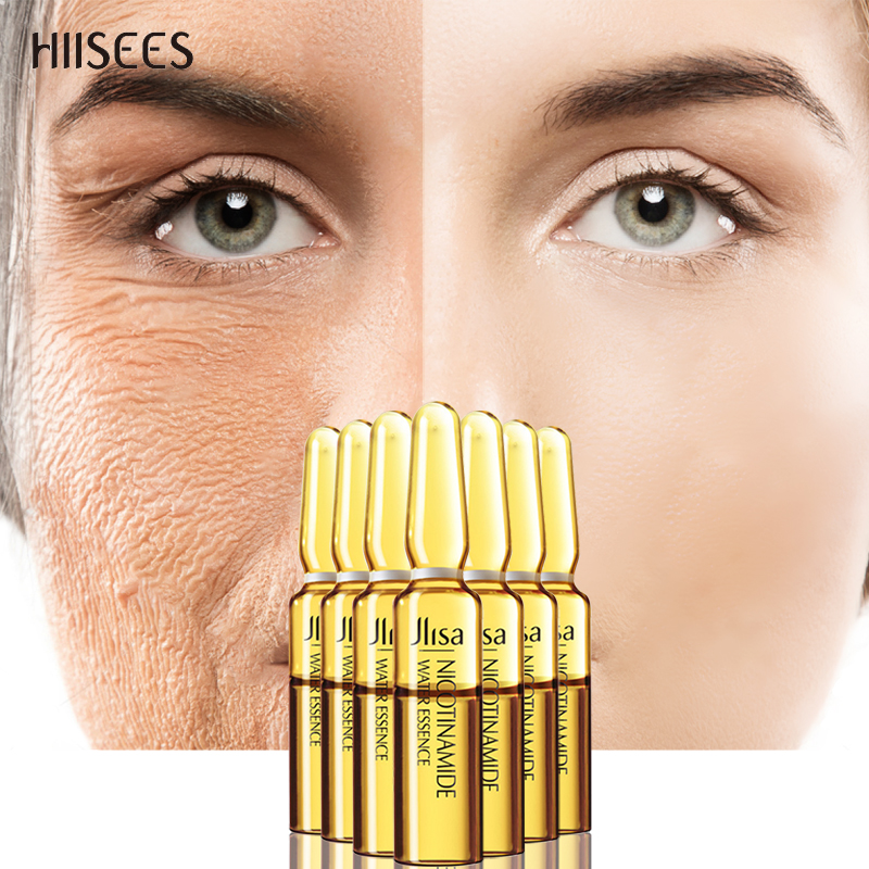 Nicotinamide Moisturizing Face Essence Anti-aging Face Serum Acne  Shrink Pores Oil Control Lifting Firm Skin Care 2ml*7