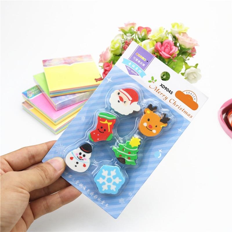 Large Christmas Rubber Eraser Santa Claus Christmas Tree Desktop Decoration Student Gift Stationery Children's Eraser
