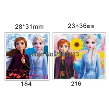 50pcs Mixed New Cartoon sister princess TV & Movie Character Flatback Resin Planar Cabochon for DIY Craft 1.2inch RETS184 & 216