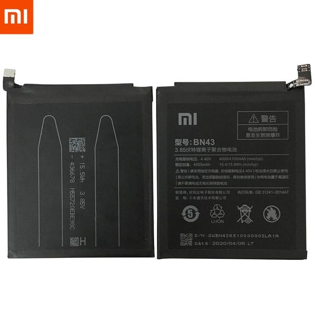 Originale XiaoMi Batteria di Ricambio Per Xiaomi Redmi 3 3S 3X 4X 4A 5A 3 pro 5 Più Nota 3 4 4X 5 5A 6 7 Pro Mi5 Mi 8 5X Batteria 6