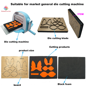 Image 2 - Scrapbook Cut Sky Bunny appendiabiti in legno stampi die cut accessori in legno die Regola Acciaio Die Misura (IL MIO)