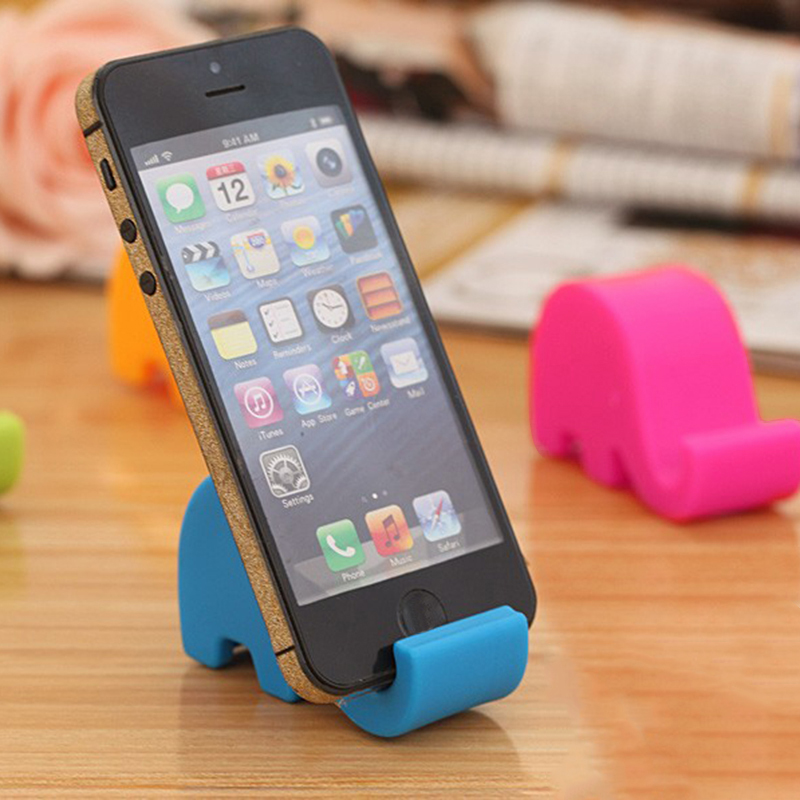 Lovely Fashion Elephant Mobile Phone Holder Mounts Plastic Stand Holder Desk Durable Accessible For Cell Phone Tablet