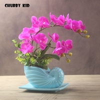 Real touch High simulation flowers arts artificial orchid suit felt wedding decorative latex orchids bonsai ikebana orquideas