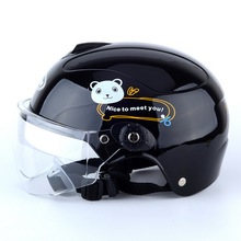 Children Motorcycle Helmet Cartoon Kids For Open Face Casco Moto Capacete Retro Vintage Caps Cute C6