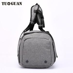 Image 2 - Sac de voyage antivol pour hommes, sac de transport avec mot de passe, imperméable, sac à bandoulière pour week end, grande capacité, sac de transport