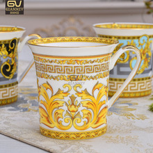 European Style Fine Bone China Coffee Mug and Cup Creative Ceramic Afternoon Tea Teacup For Water Free Shipping