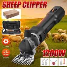 1200w 6 velocidade elétrica sheep pet hair clipper kit corte de lã tesoura corte cabra animal estimação corte suprimentos máquina corte fazenda