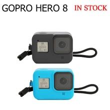 Coque en silicone pour GoPro8 boîtier boîtier pour Gopro housse de étui de protection avec verre trempé protecteur décran pour étui Gopro8