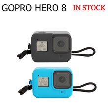 Silicone Case For GoPro8 Case Housing Case For Gopro Protective Case Cover With Tempered Glass Screen Protector For Gopro8 Case