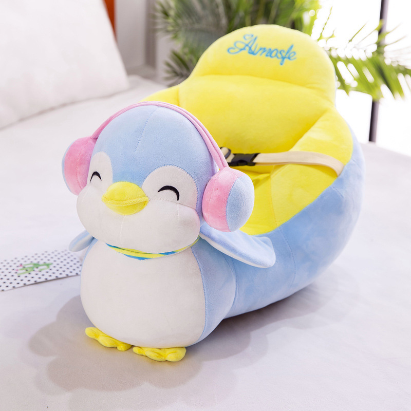 Hot Cartoon Children Sofa Baby Learning Seat Anti-fall Small Sofa Tatami Plush Toy Baby Comfortable Play Sofa Seat
