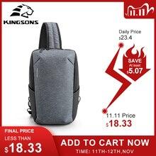 Kingson 2020 نمط جديد fatshion اللوحي حقيبة صدر للرجال سعة كبيرة مقاوم للماء السفر عبر الجسم حقيبة للمراهقين الساخن