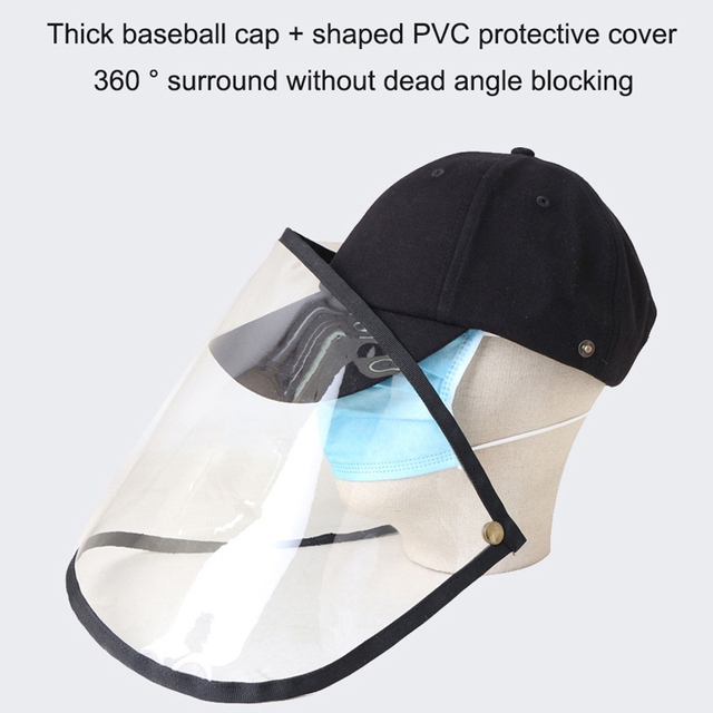 Windproof Sun Hat Face Shield Cover Hat Anti Spitting Saliva Dust proof Fisherman Cap With Detachable Clear Facial Mask 4