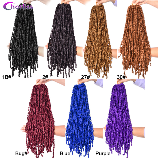 Passion Twist Crochet Hair Synthetic Braiding Hair Extensions 18Inch 15 Strands Spring Twist Hair 100g/Pack Long Black Brown 2