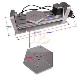 Image 1 - CNC 5 axis Rotary axis plate type for cnc router milling machine kit