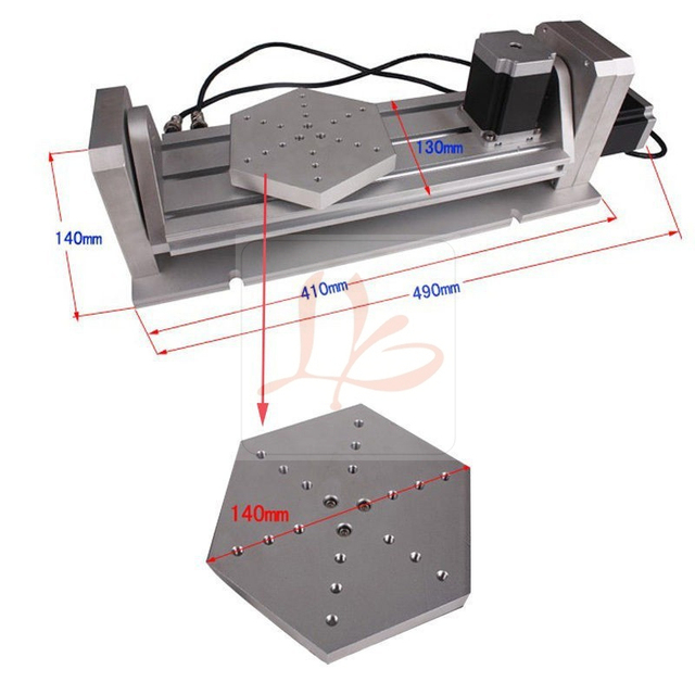 CNC 5 axis Rotary axis plate type for cnc router milling machine kit