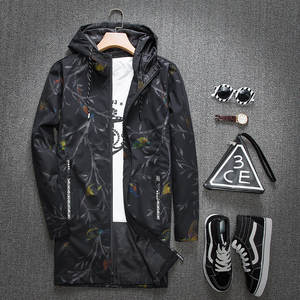 Hooded Coat Slim-Fit Korean-Style Fashion Wear Chain Trend Youth Link Tops Fencing Men