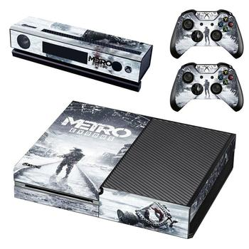 Metro Exodus Skin Sticker Decal Full Cover For Xbox One Console & Kinect & 2 Controllers For Xbox One Skins Stickers Vinyl 1