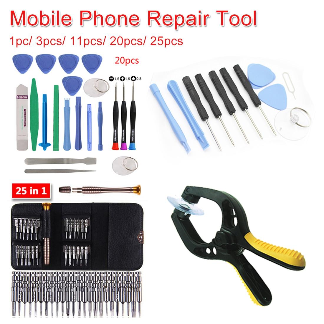 3pcs/11pcs/20pcs/25pcs Cell Phones Opening Pry Mobile Phone Repair Tool Kit Screwdriver Set For Iphone/Samsung/Xiaomi Accessory