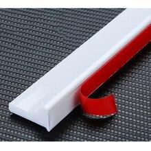Custom Self-adhesive Bathroom Water Stop Strip Floor Water Retaining Bar Sills 16x30mm Silicone White