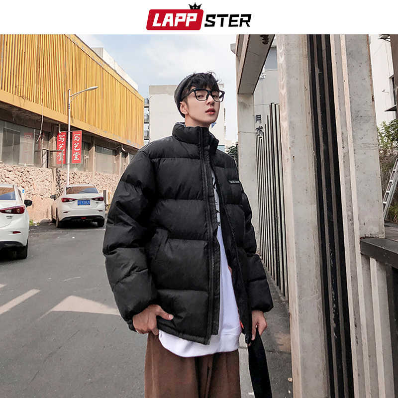 LAPPSTER Mannen Winter Jas Bubble Jas 2019 Mens Black Streetwear Hip Hop Warm Puffer Jassen Harajuku Koreaanse Windjack