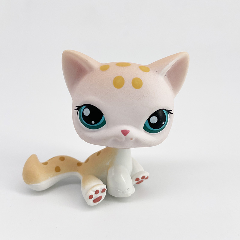 LPS Real Pet Shop Toys SIAMESE Cat #664 Purple Kitty Old Original Toy For Children Free Shipping