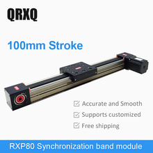 100 mm stroke linear sliding table module electric CNC step servo drive customized platform