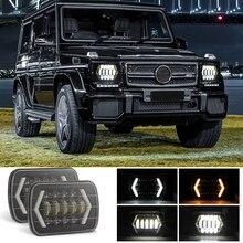 สำหรับ Jeep Wrangler 300W 7 นิ้ว Combo บาร์ไฟ led Spot น้ำท่วม Offroad รถสแควร์ไฟ LED ทำงานหมอก