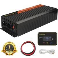USB wireless 2500/5000W inverter charger DC 12V to AC 220V pure sine wave power inverter for camping van/booster /TV/heater/oven