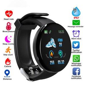 Смарт-часы D18 фитнес-часы монитор сердечного ритма измеряемые Мужские t смарт-браслет спортивный ремешок Смарт-часы для мужчин D13