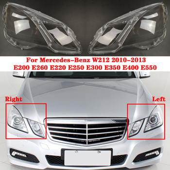 цена на Car Headlight Cover For Mercedes-Benz E-Class W212 E200 E260 E300 E350 E400 E500 E550 2010-2013 Auto Shell Headlamp Lampshade