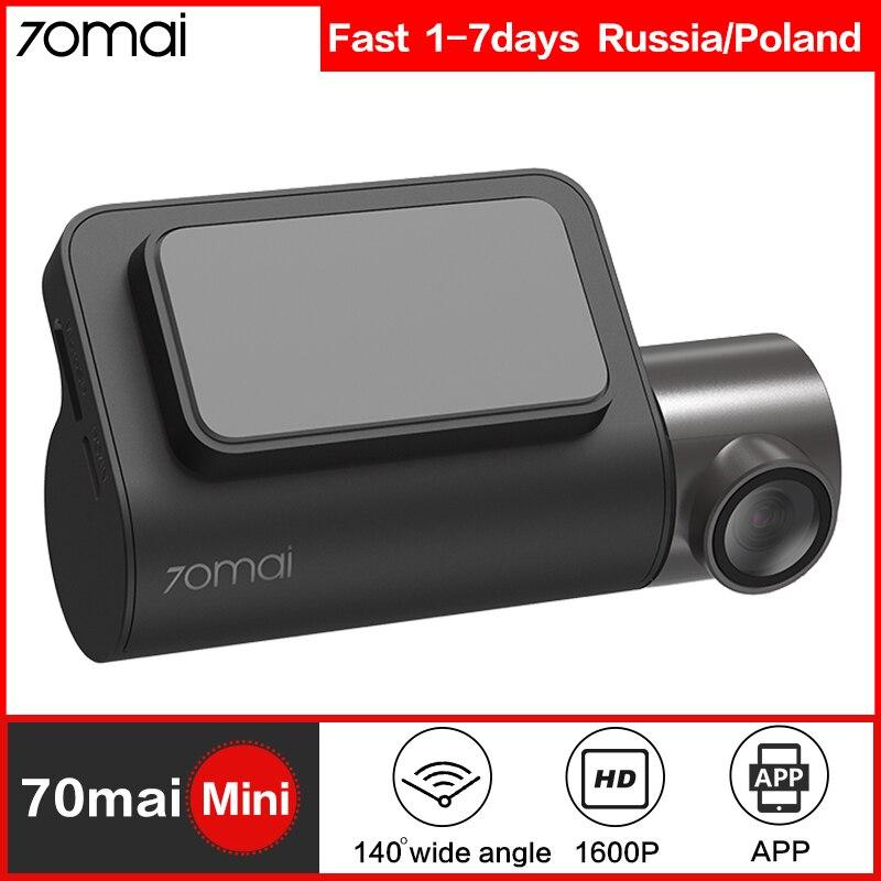 70mai mini inteligente traço cam wifi carro dvr traço câmera 1600 p hd visão noturna g-sensor aplicativo 140fov 70mai dashcam gravador de vídeo automático