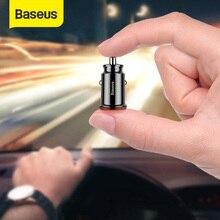 휴대 전화 태블릿 GPS 3.1A 에 대 한 Baseus 미니 USB 차량용 충전기 자동차에 빠른 충전기 자동차 충전기 듀얼 USB 자동차 전화 충전기 어댑터