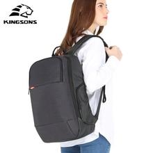 Kingsons mochila para ordenador portátil para mujer, bolso a la moda antirrobo, con recarga USB, de 15 pulgadas, para negocios, unisex