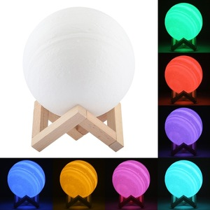 Image 5 - 3D مصباح قمري طباعة قابلة للشحن ليلة ضوء 3 اللون التحكم مصباح أضواء 16 الألوان للتغيير عن LED القمر ضوء هدية 5v 1A