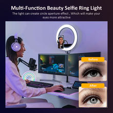 colorRGB, 10 inch selfie Ring Light ,LED Ring Light with Tripod Stand, Beauty Ringlight for Makeup/Live Stream/TikTok/YouTube