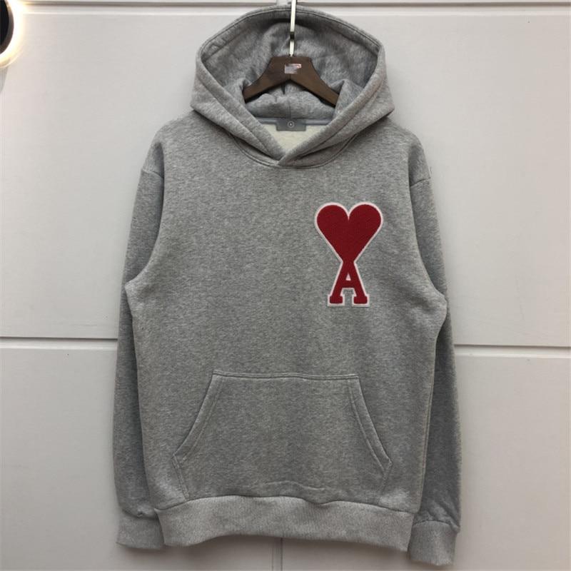 Flocking Thick Hoodie Women Men Best Quality Sweatshirts Men Women Patch Loose Casual Streetwear Hoodie Hooded
