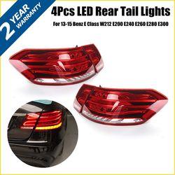 Luces traseras LED para mercedes-benz Clase E W212 E350 E300 E250 E63 sedán lámparas ABS 49x19cm montaje de luz de coche reemplazo directo