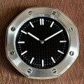 Металлические дизайнерские часы настенные часы в форме с подсветкой для домашнего декора
