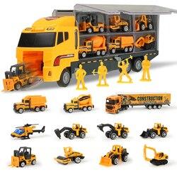 Mini Gegoten Lichtmetalen Auto Model Speelgoed Vliegtuigen Techniek Transportvoertuig Carrier Truck Met Uitwerpen Carry Functie Geschenken Jongen Speelgoed