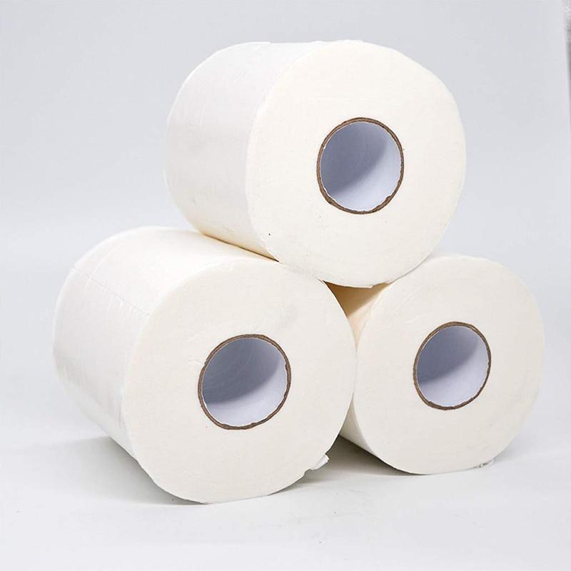 1/2/3/4/5/6 Rolls Toilet Paper Tissue 4 Layer Household Soft Skin-Friendly For Home Bathroom TT@88