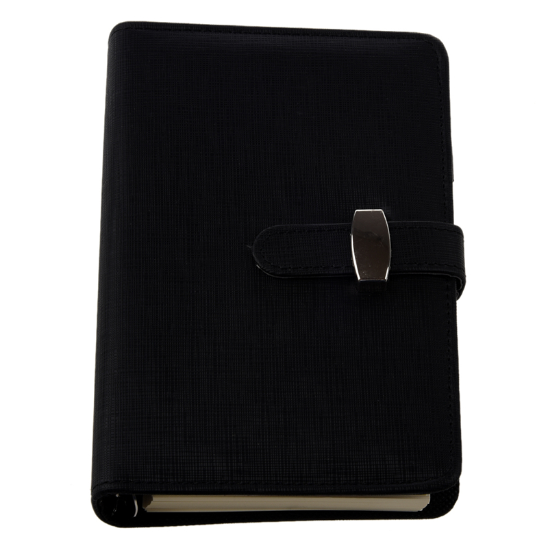 FASHION Pocket Organiser Planner Leather Filofax Diary Notebook Black