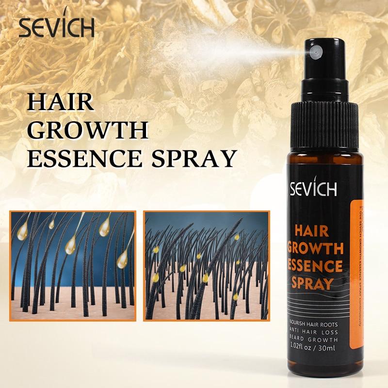Sevich gengibre rápido crescimento do cabelo spray anti prevenção perda de cabelo líquido danificado reparação do cabelo crescente spray anti-perda de tratamento do cabelo