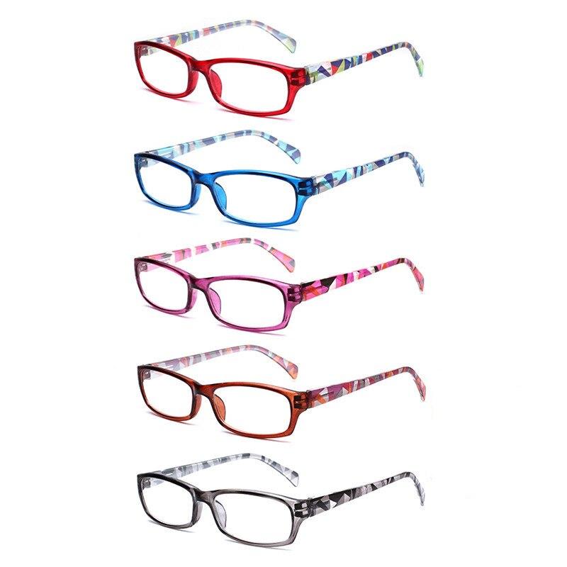 5 упаковок , очки для чтения для мужчин и женщин, весенние шарнирные овальные оправы, цветные качественные очки для чтения, от 0,5 до 6,0