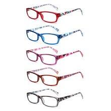 Henotin 5 pacote óculos de leitura para homem e mulher primavera dobradiça oval quadros coloridos leitores qualidade óculos 0.5to 6.0